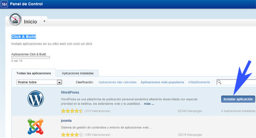 autoinstalador-wordpress-1and1-click-build